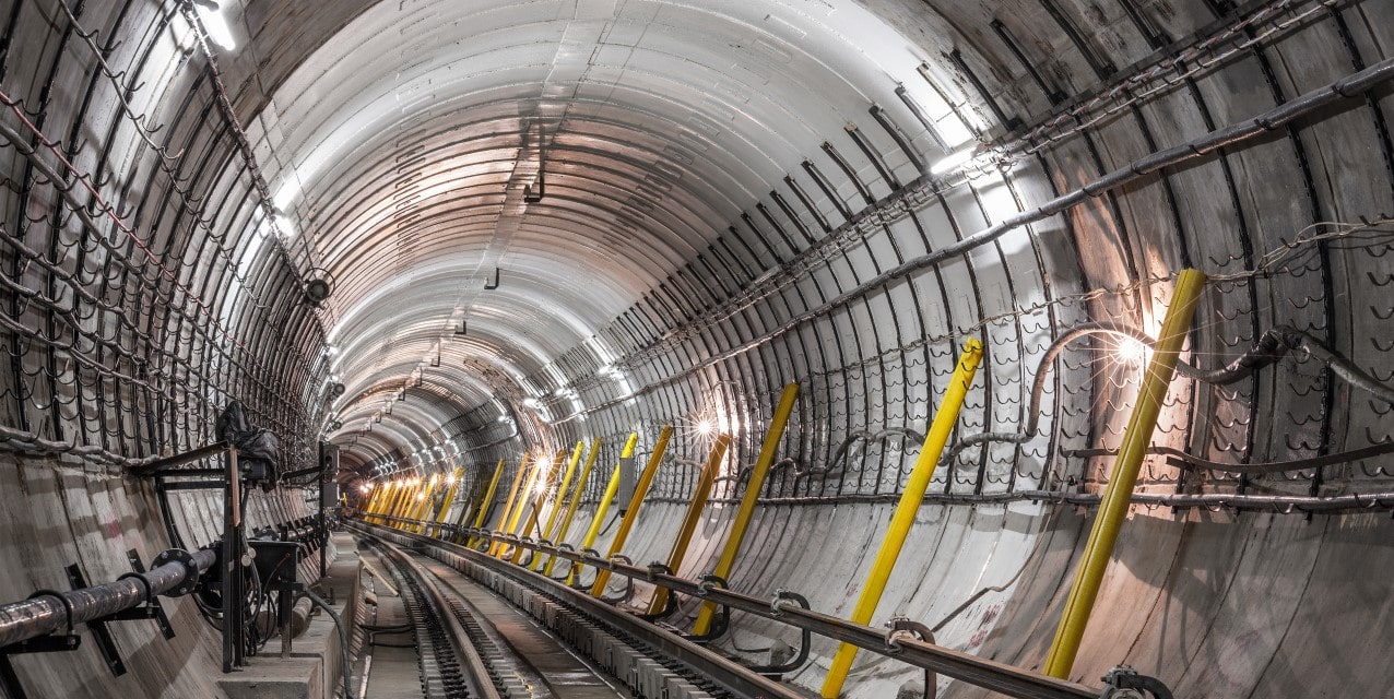 visual of a tunnel inspection